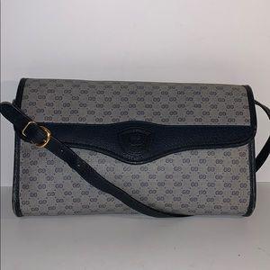 Vintage GUCCI Monogram GG Web Coated handbag purse